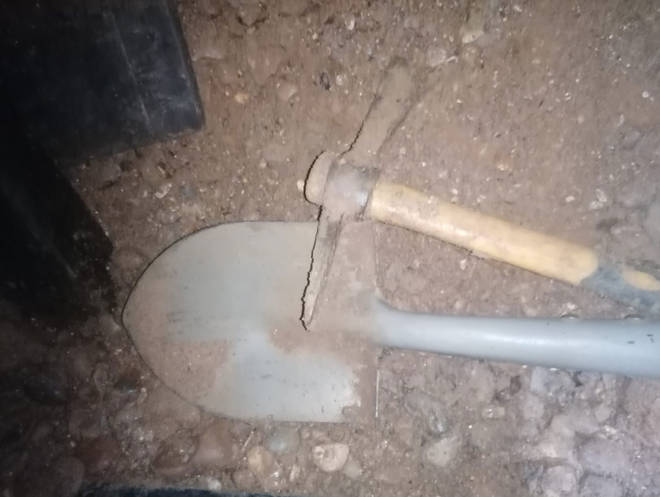Protesters dug the tunnels with pick axes and spades