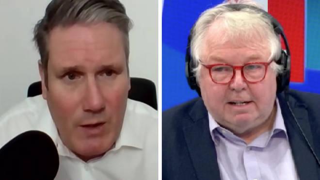 "Sir Keir Starmer tolds LBC that Boris Johnson&squot;s trip was ""entirely legitimate"""
