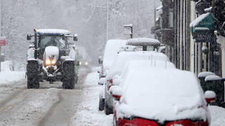 Heavy snow is expected in several parts of the UK over the next few days