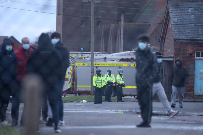 Police are at the site amid reports of a riot