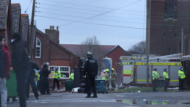Emergency services were called to the barracks on Friday