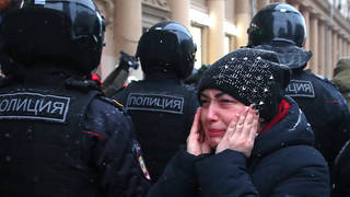 Over 4,000 people have been arrested at protests across Russia.