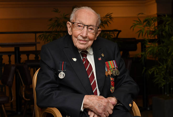 Captain Sir Tom Moore has been admitted to hospital after testing positive for Covid