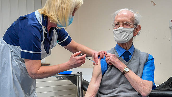 A coronavirus vaccine has been offered to all residents eligible in England