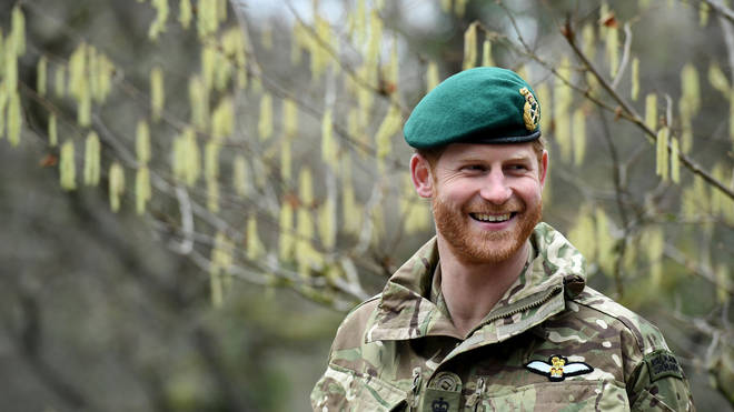 Duke of Sussex during a visit to 42 Commando Royal Marines at their base in Bickleigh in 2019