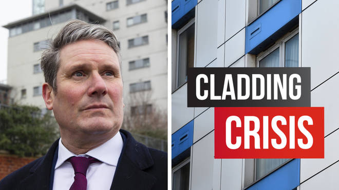 Sir Keir Starmer has visited victims of the cladding crisis in London