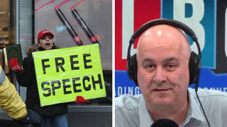 The free speech campaigner was speaking to Iain Dale