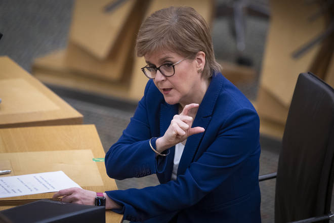 Scottish FirstMinister Nicola Sturgeon told MSPs restrictions would continue
