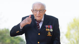 Captain Tom died yesterday at the age of 100