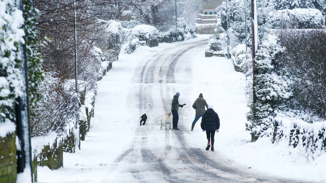 Heavy snow fell in Yorkshire earlier this week
