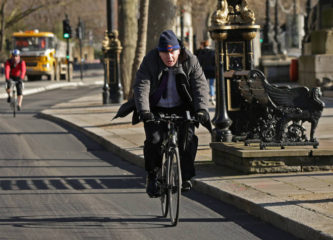Boris Johnson on the cycle superhighway