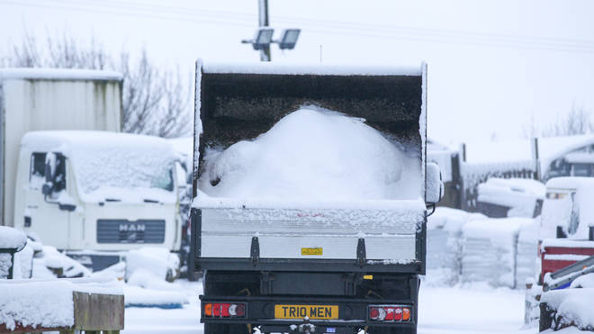 Heavy snow fell overnight in West Yorkshire, causing dangerous driving conditions