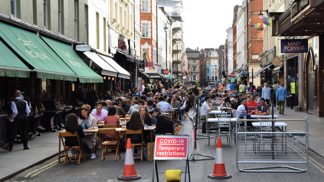 outdoor markets and al fresco dining areas could once again be allowed