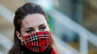 Kate Middleton in red mask