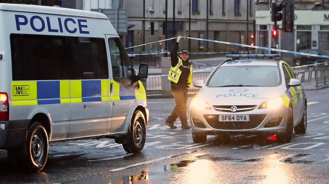 Police in Green Street, Kilmarnock