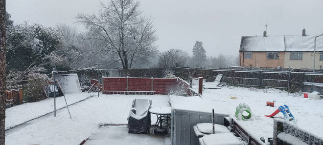 Heavy snow blanketed Canterbury, Kent