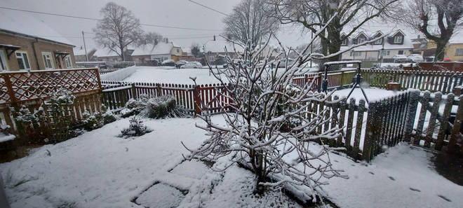 The south east saw heavy snow overnight, including in Canterbury