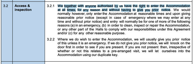 """The accommodation clause which Jon Heath claims a court could find to be """"unfair and void""""."""