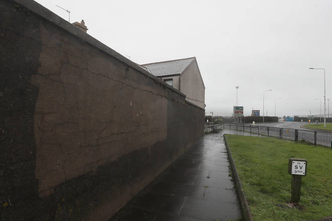 Much of the graffiti on buildings in Larne has now been scrubbed away