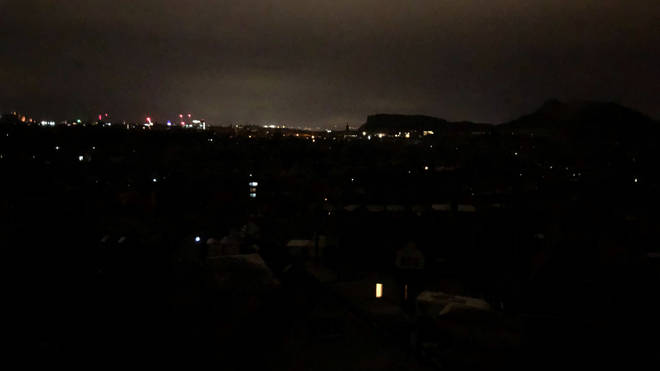 Thousands in Edinburgh were hit by power cuts on Sunday