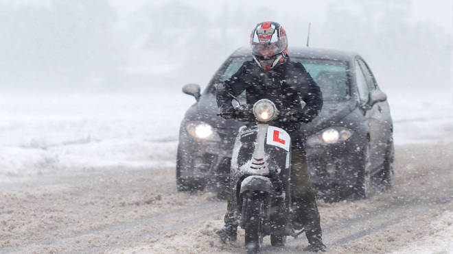 Storm Darcy has brought heavy snow to parts of the South East