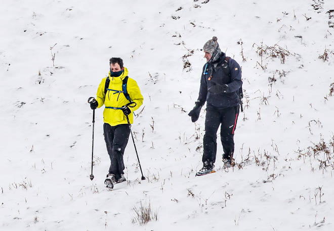 Heavy snow blanketed parts of the UK