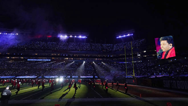 About 25,000 fans were allowed inside the Raymond James Stadium