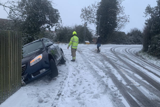 Police have advised people not to drive unless necessary