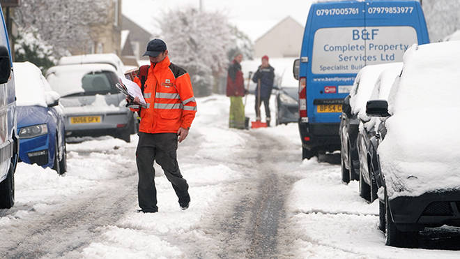 UK snow and storm Darcy has caused disruption across much of England