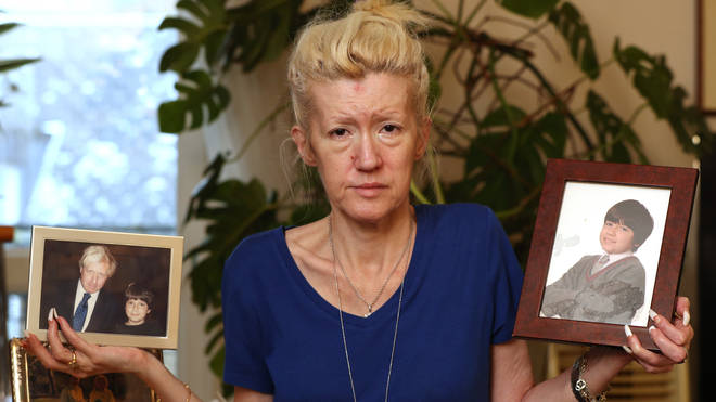 Jasna Badzak holds pictures of her son