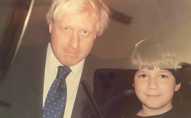 Boris Johnson pictured with Sven Badzak