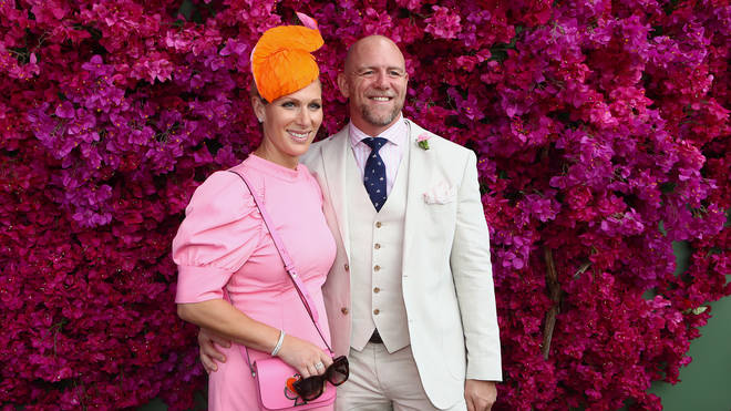 Mike Tindall with his wife, the Queen's granddaughter Zara Tindall