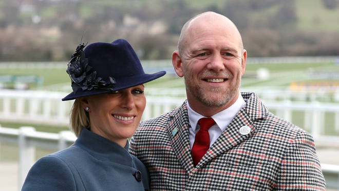 Zara Tindall and Mike Tindall at Cheltenham racecourse