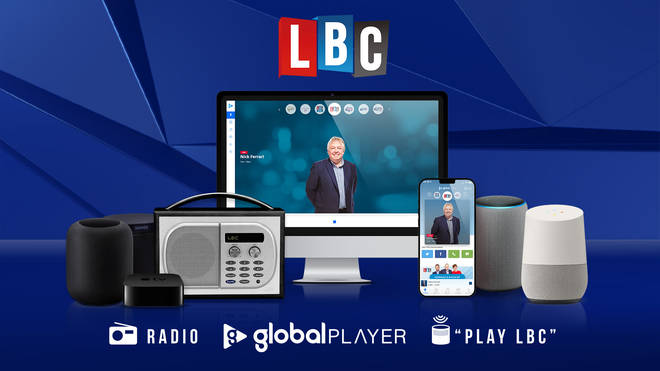 You can listen to LBC across multiple platforms.