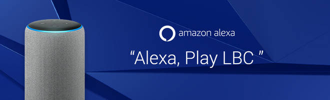 You can listen to LBC on Alexa.
