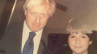Sven Badzak pictures with Boris Johnson