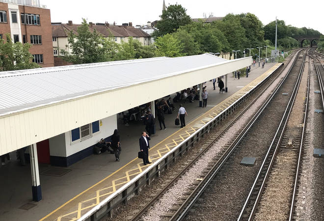File photo: The railway worker was hit by a train at Surbiton station