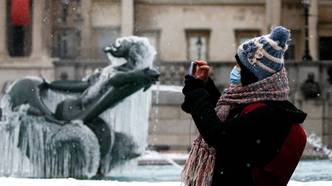 Freezing temperatures are also expected on Wednesday night
