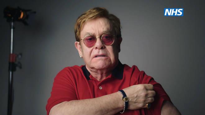 Elton John urged people to get vaccinated