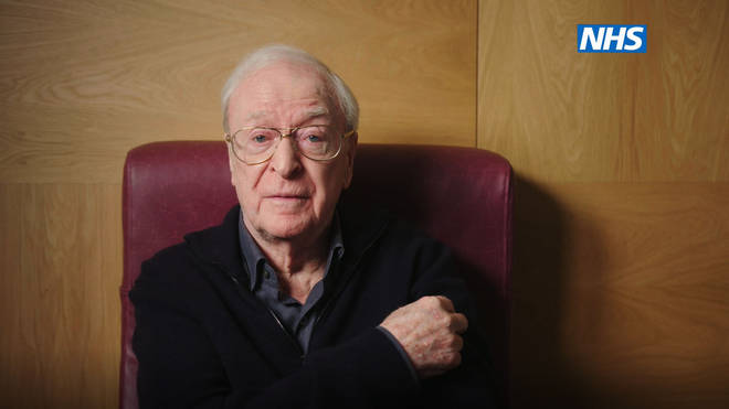 Michael Caine also appears in the video