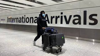 People arriving at Heathrow Airport prior to quarantine hotels being introduced