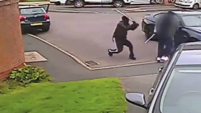The gang were scene of CCTV attacking motorists with golf clubs