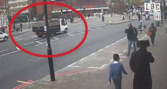 The shocking CCTV appeared on social media over the weekend.