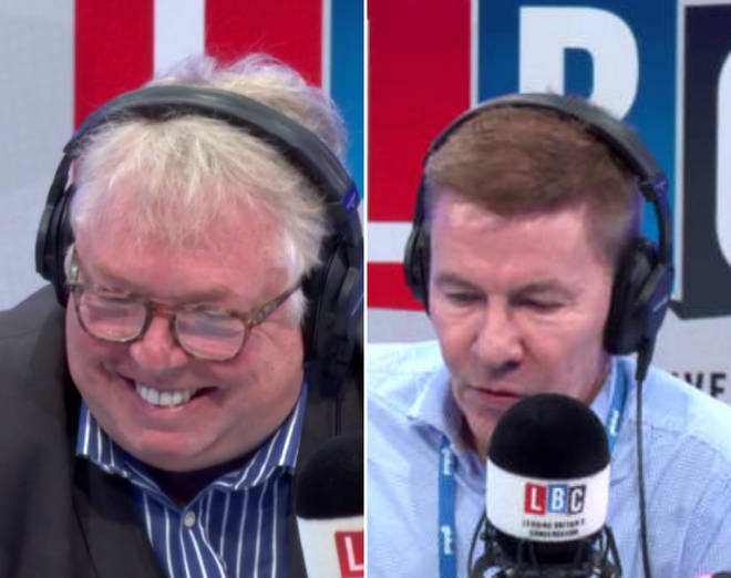 Andrew Pierce left Nick Ferrari in hysterics