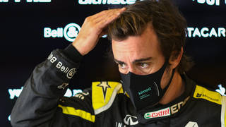 Racing driver Fernando Alonso has been rushed to hospital