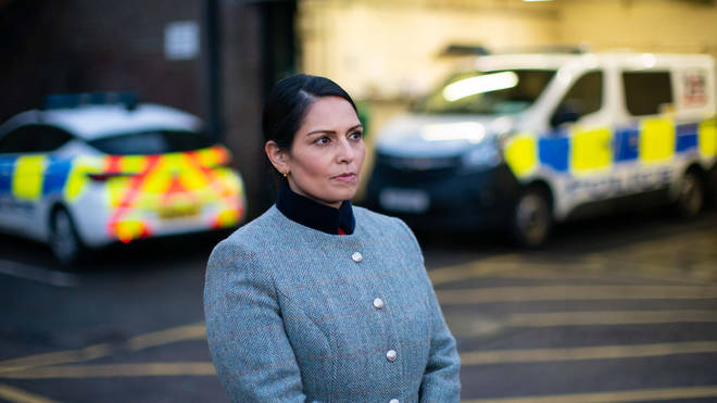 Priti Patel pledged £60 million to police forces in England and Wales to cover the extra costs of enforcing coronavirus pandemic rules.