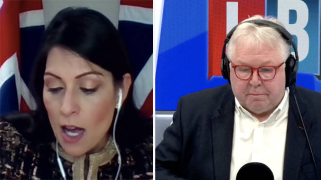Priti Patel was asked repeatedly to voice support for Cressida Dick