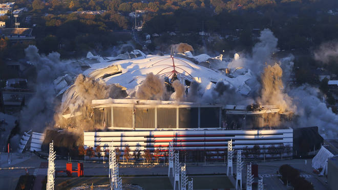 The demolition of the Georgia dome