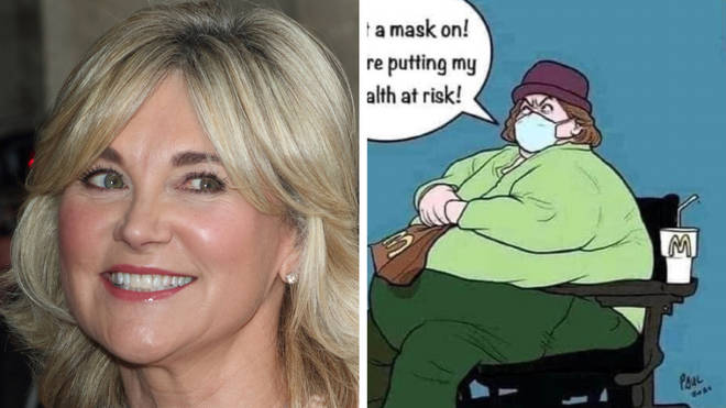 Anthea Turner has apologised after posting a controversial cartoon online