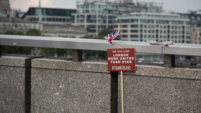 Commemoration service on the first anniversary of the London Bridge terror attack in London